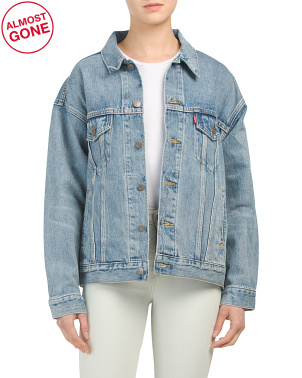 Juniors Indigo Anthem Dad Trucker Jacket
