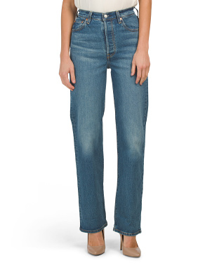Juniors Ribcage Full Length Vintage Jeans