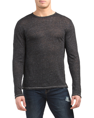 Owen Linen Long Sleeve Top