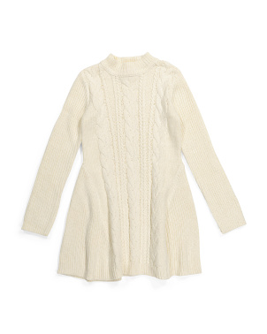 Big Girls Cable Sweater Dress