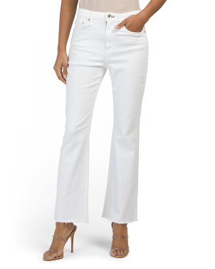 Nina High Rise Ankle Flare Jeans