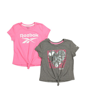 Little Girls 2pk Tie Front Tops