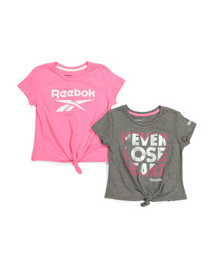 Little Girls 2pk Twist Front Tops