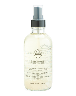 3.93oz Rose Quartz Sea Salt Mist With Stones