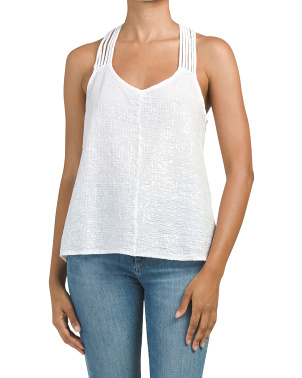 Made In Italy Jersey Sequin Tank