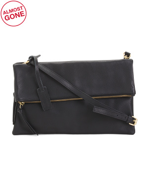 Leather Preston Foldable Crossbody