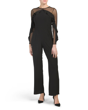 Made In Usa Petite Illusion Jumpsuit