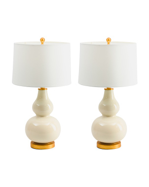 Set Of 2 Glass Lamps