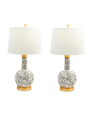 Set Of 2 Ceramic Table Lamps