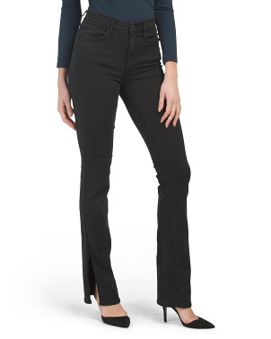 High Rise Split Seam Bell Jeans