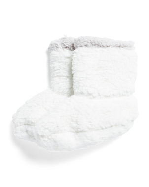 Cozy Sherpa Slippers With Gripper Bottom
