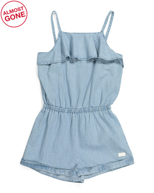 Little Girls Denim Romper