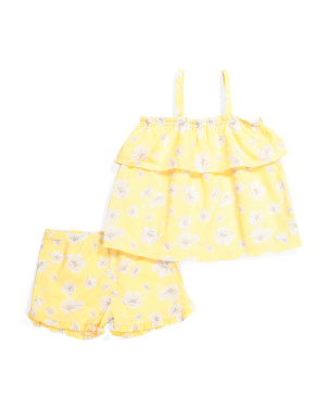 Little Girls 2pc Floral Seersucker Set