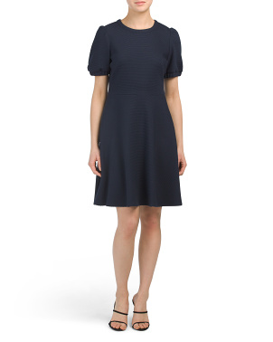 Textured Knit Dress With Pockets