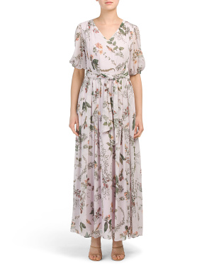 Floral Printed Maxi With Self Belt