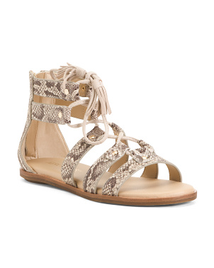 Comfort Snake Gladiator Leather Sandals