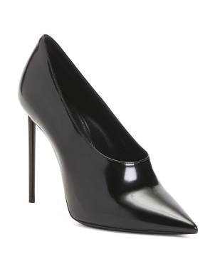 Made In Italy Pointy Toe Patent Leather Pumps