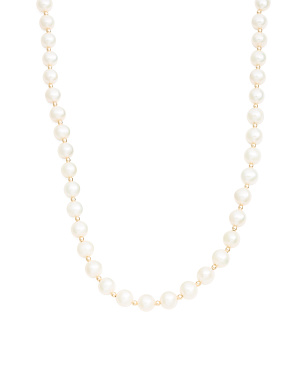 Made In Usa 14k Gold Pearl Necklace