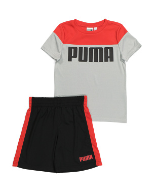 Little Boys Performance Tee And Short Set