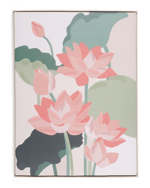 31x41 Framed Lotus Blossoms Wall Art