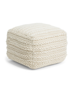 20x20x12 3d Braid Pouf
