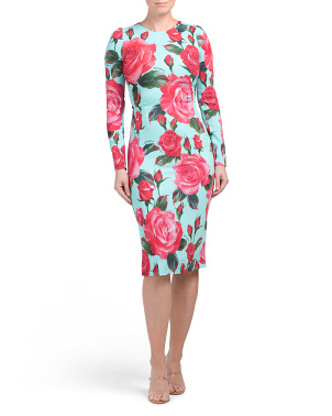 Made In Italy Rose Print Dress