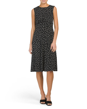 Petite Polka Dot Midi Dress
