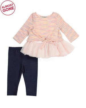 Baby Girls Tie Front Sweater Set