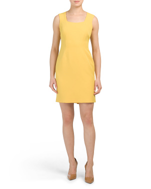 Petite Square Neck Sheath Dress