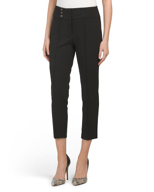 Petite Stretch Crepe Flare Bottom Pants