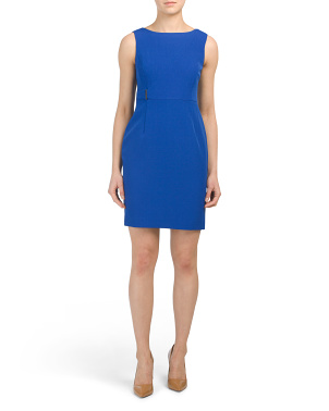 Petite Stretch Crepe Sheath Dress