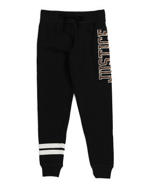 Girls Sequin Logo Joggers