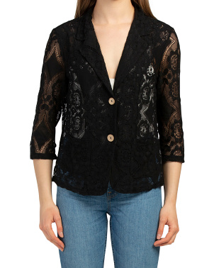 Made In Italy Lace Jacket