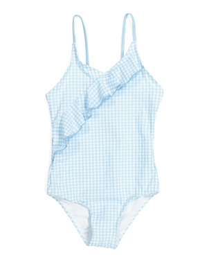 Little Girls Ruffle Gingham One-piece Swimsuit