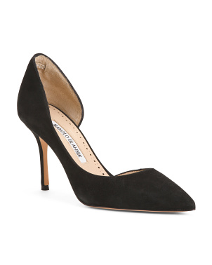 Made In Italy Pointy Toe Suede Pumps