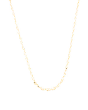 Made In Italy 14k Gold Twist Rope Necklace