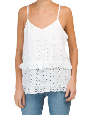 Made In Itlay Eyelet Halter Top