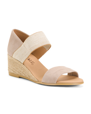 Made In Spain Suede Wedges
