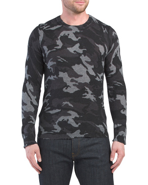 Kennedy All Over Camouflage Cashmere Sweater