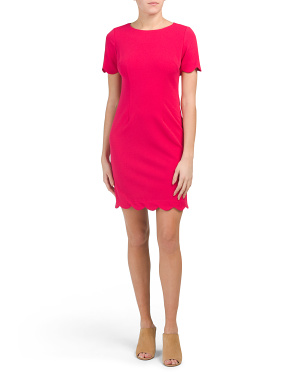 Petite Scallop Hem Shift Dress