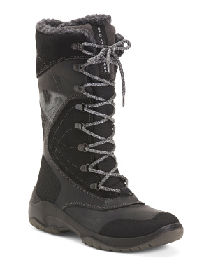 Made In Italy Tall Shaft Insulated Waterproof Leather Boots