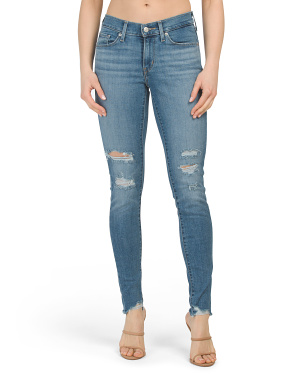 Curvy Skinny Hawaii Lights Jeans
