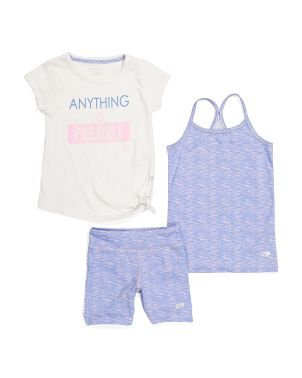 Little Girls 3pc Anything Is Possible Short Set