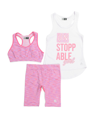 Big Girls 3pc Active Short Set