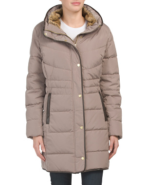 Petite Quilted Down Coat
