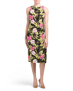 Tropical Floral Career Dress