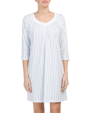 Striped Short Nightgown