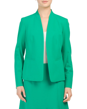 Kiss Front Blazer With Stretch