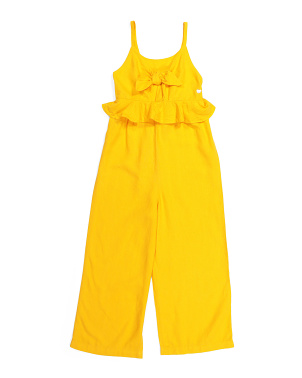 Big Girls Linen Jumpsuit