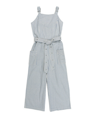 Big Girls Striped Jumpsuit